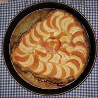 photo of an apple-quince galette