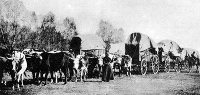 Photo of Wagon Train from Wikimedia Commons