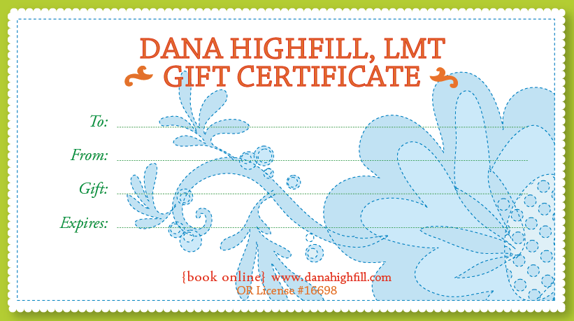 Being present massage gift certificates 15 45 for Massage therapy gift certificate template