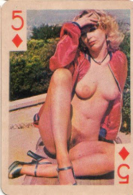 Casual Vinatge nude playing cards very