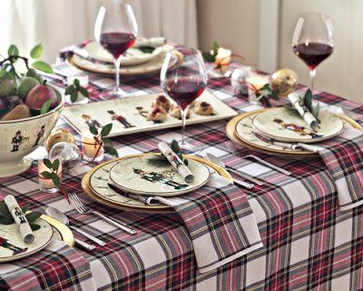 Williams Sonoma Christmas Table.Christmas Tartan Table Runner Tutorial Create Enjoy