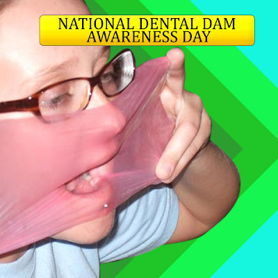 Oral sex with a dental dam