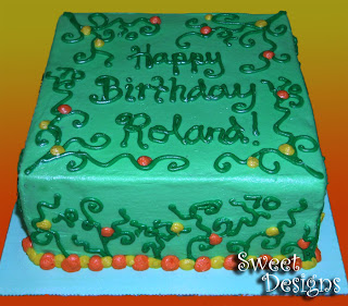 Sweet Designs Cakery 70th Birthday Blow Out
