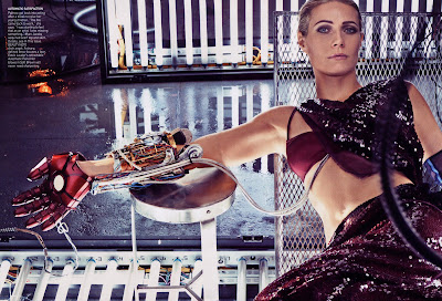 Gwyneth Paltrow and Iron Man in Vogue Magazine