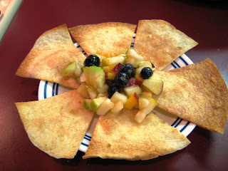 Fruit Salsa and Cinnamon-Sugar Tortilla Chips