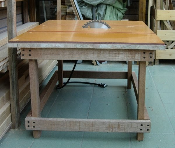 電子木工: [30]自製鋸臺-工作桌改造中