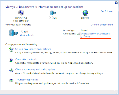 how to change wireless network settings in windows 7