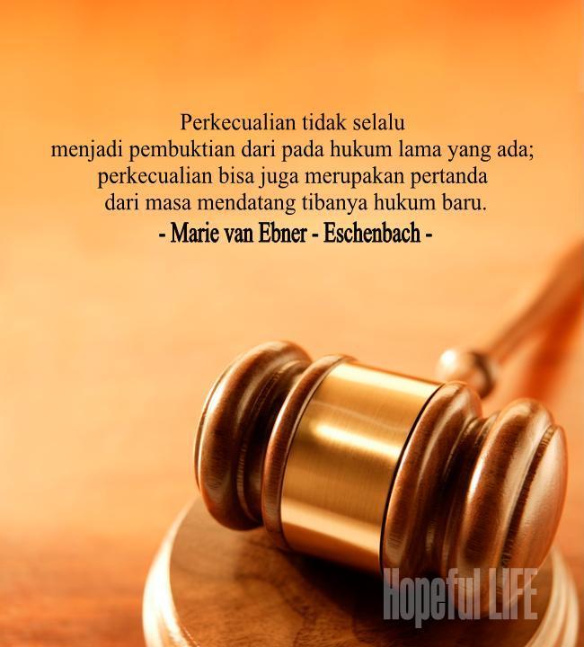 Kata Kata Bijak Hukum Alam