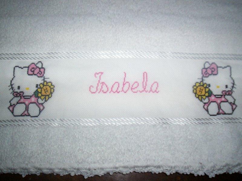 Toalhas de banho e boca da Hello Kitty