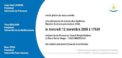 Invitation De Remise De Diplome
