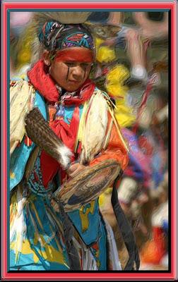 Native Boy at pow-wow