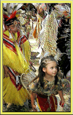 Native children at pow-wow.