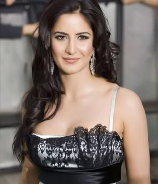 Katrina Kaif Hot Hot Fashions Katrina Kaif Hot In Black Dress-1403