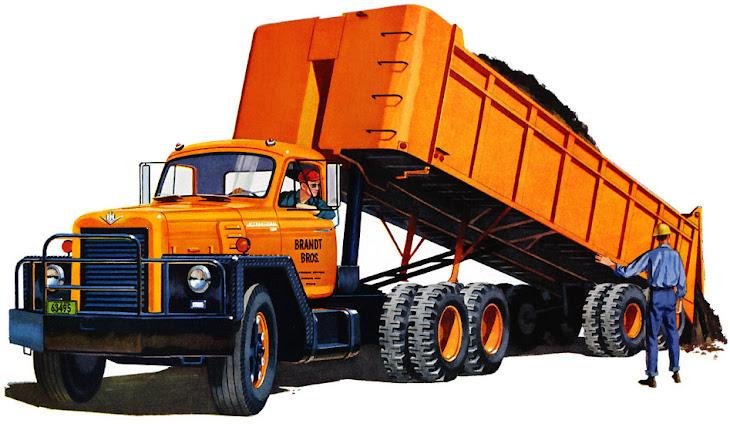 International with Dump Trailer