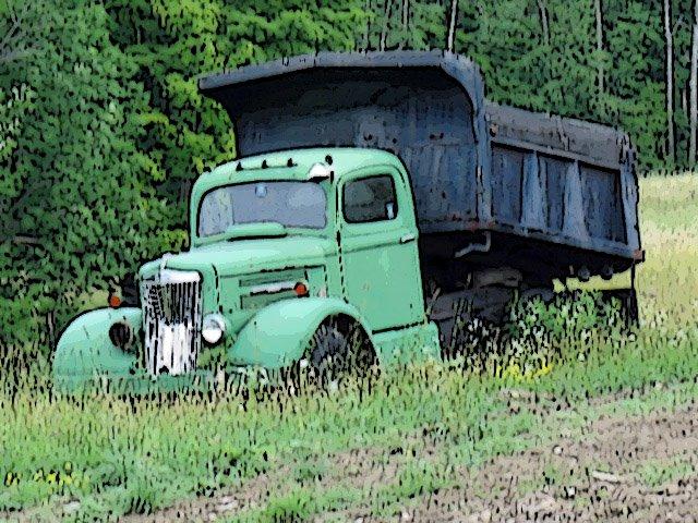 White Dump Truck