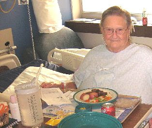 Photo of Lucille Carlson and her lunch.
