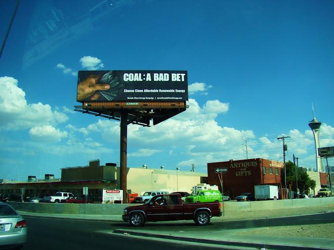 Coal: A Bad Beat - says a billboard in Vegas