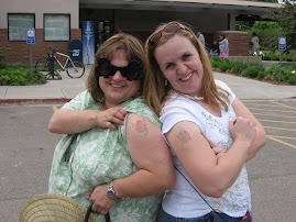 Our guns--we are a couple of rough chicks.