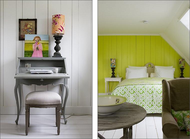 Camere Da Letto Verde Acido : Colori vivaci si sposano con lo stile shabby shabby chic interiors