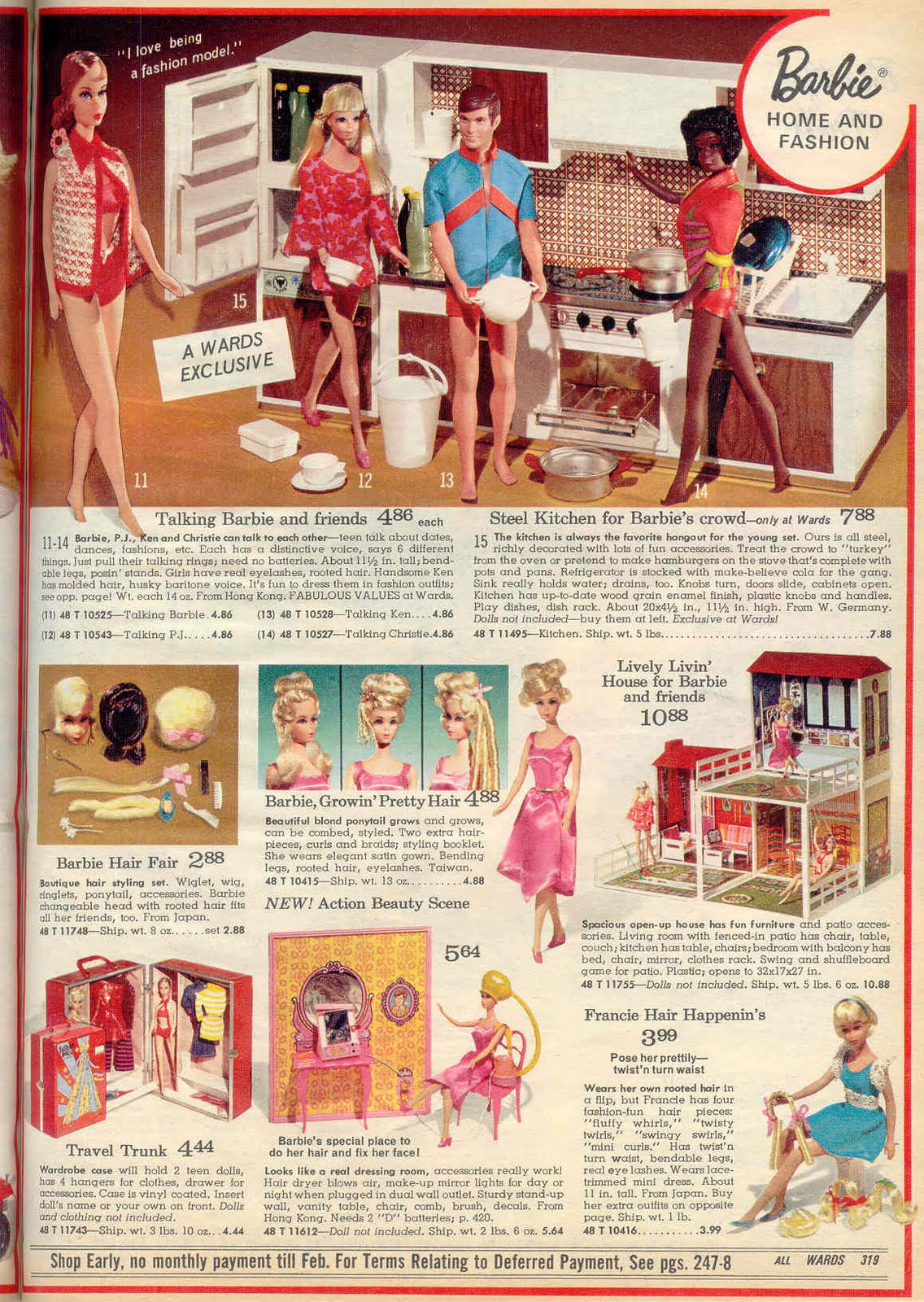Christmas Catalogs.Gold Country Girls Barbies From Christmas Catalogs