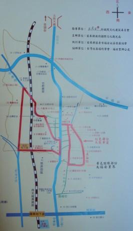 福安社區的自繪地圖