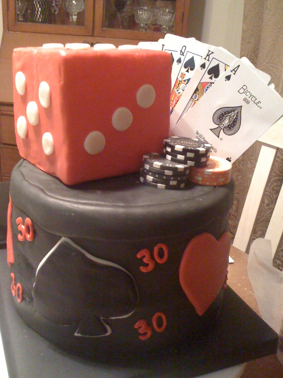 My Friend Greg Is Turning 30 And His Wonderful Wife Throwing A Casino Themed Evening Of Wagering Whiskey She Really Wanted Cake To Be Crative