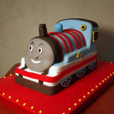 Birthday Cake Shaped The Train Thomas Cake Food And Drink