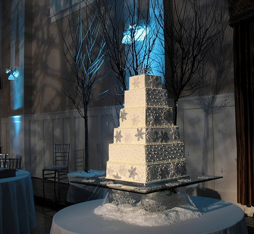 "Winter Wedding Food: Winter Wedding Cakes ""Winter Toppers"""