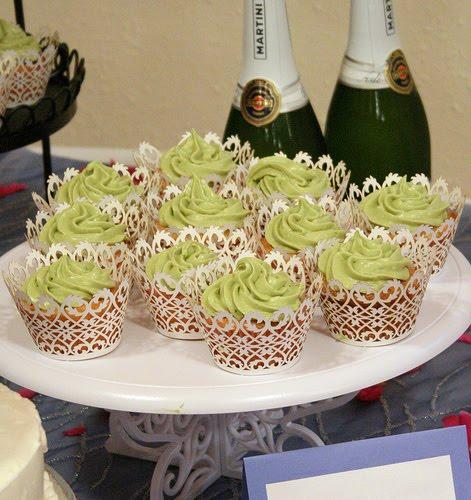 Cupcake Wedding Cakes: Green Cupcake Wedding Cakes:Wedding
