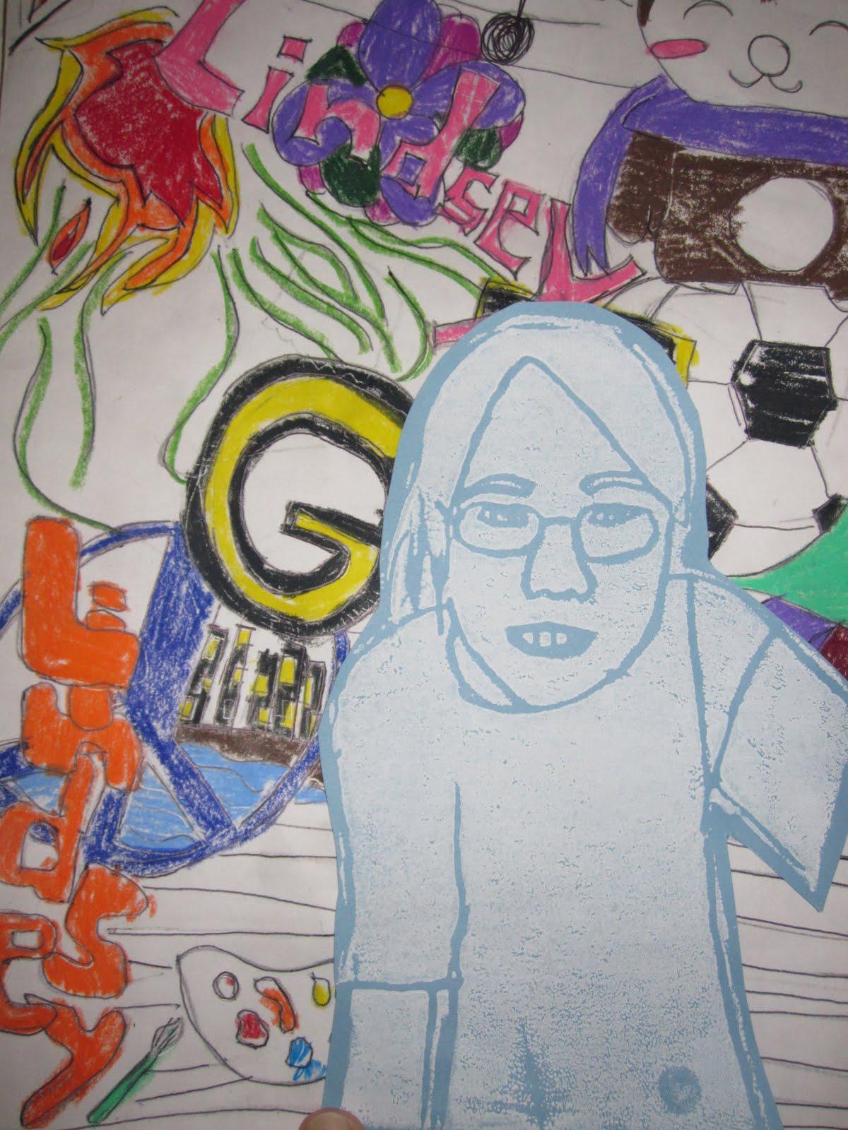 Cogburn Woods Artworks 5th Grade Self Portrait Pop Art