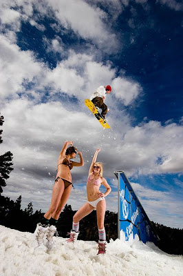Bikini skiing pictures that