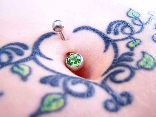 Decorated belly button: 19
