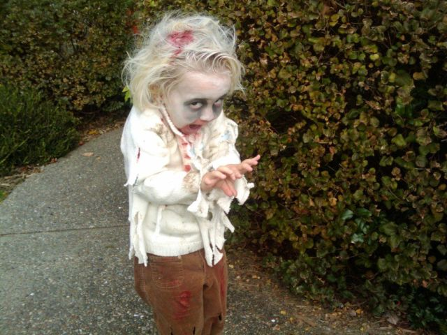 Children in zombie makeup