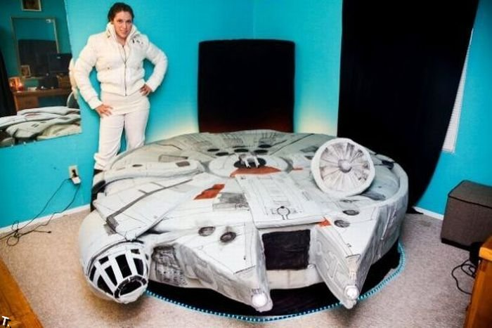 How a star wars fan bed will look