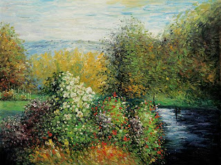 corner of the Garden at montgeron by claude monet