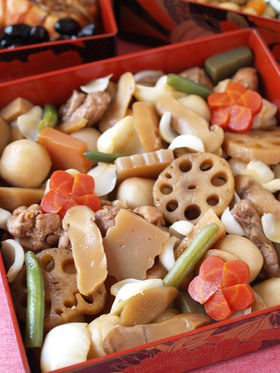 Easy nishime create eat happy kawaii japanese food recipes and each dishes that make up osechi ryori has a special meaning celebrating the new year such forumfinder Choice Image
