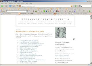 Raons Que Rimen Refranyer Català Castellà