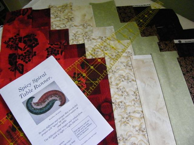 Quilt Knit Run Sew Spicy Spiral Table Runner