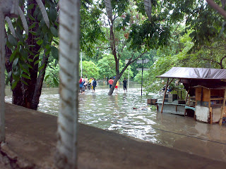 Flood in Sunter Agung Podomoro, North Jakarta, on February 2008
