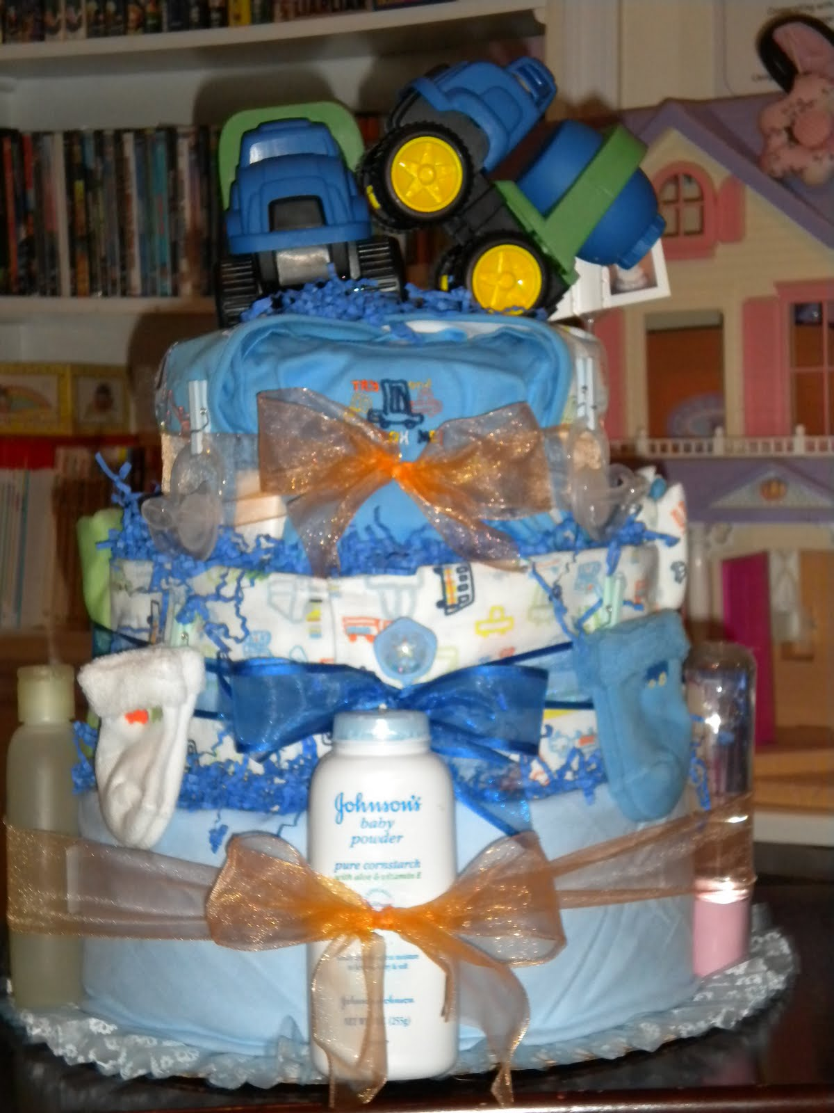 Incredible Homemade Delights Construction Diaper Cake For