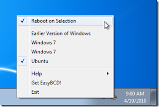 LinucS: How To Quickly Reboot Directly from Windows 7 to XP