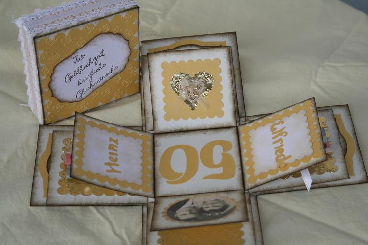 Sandras Bastelblog Goldene Hochzeit
