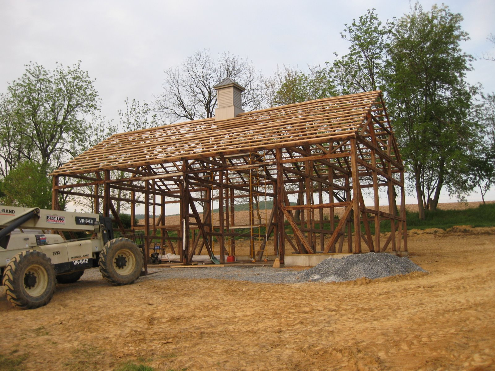 The Beaumont Barn Putting Lath On The Barn