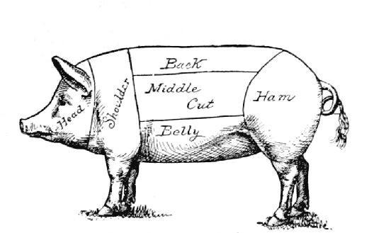 so i bought a whole pig  pork cut sheet