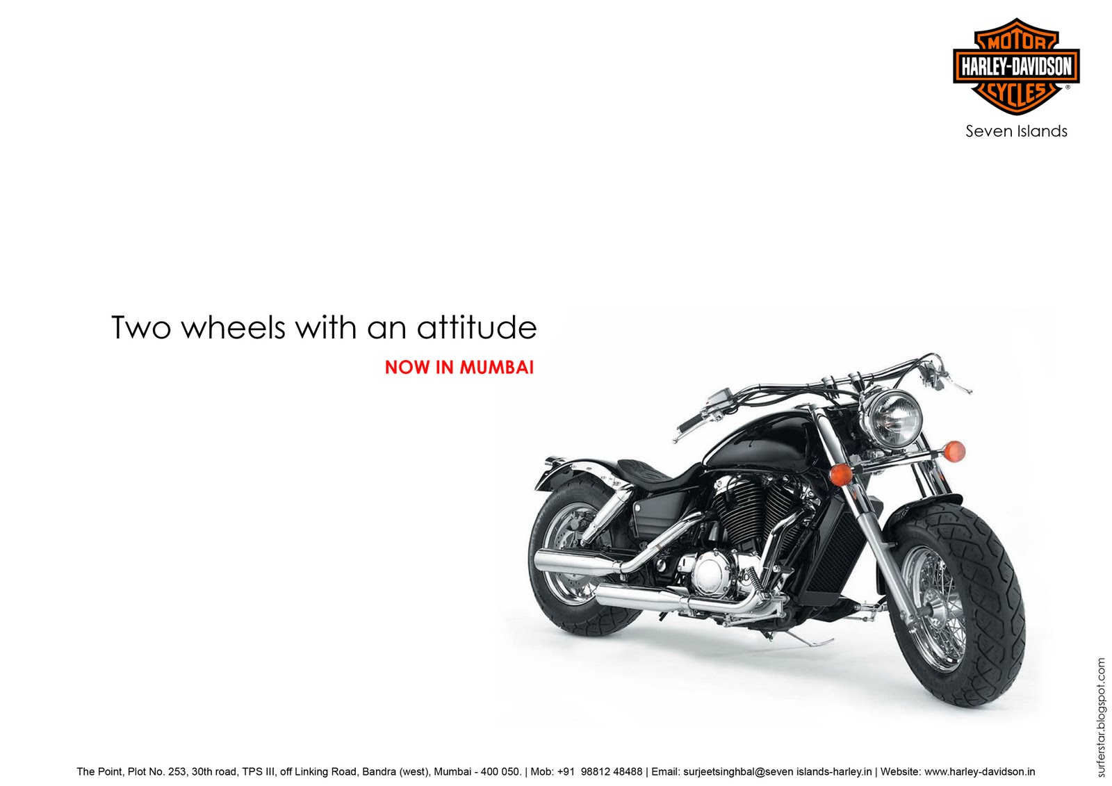 Harley Davidson Advertising: Surfer Of The Stars: Harley Davidson Print Ads