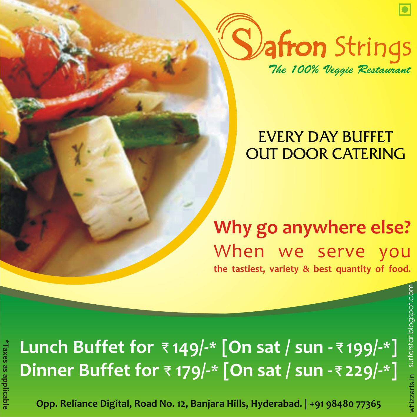 Surfer of the stars: Safron Strings Hydrabad, INDIA (Veg ...