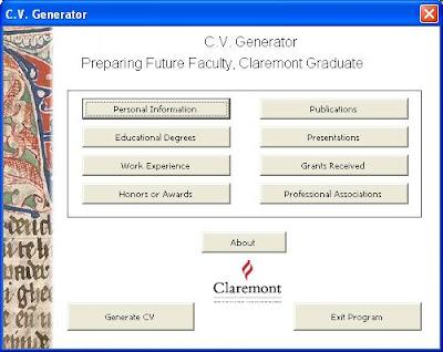 Curriculum Vitae Generator