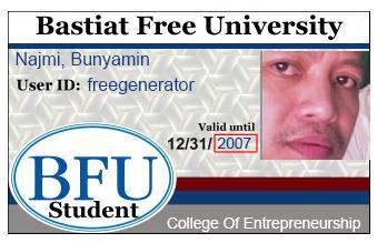 Student ID card Generator