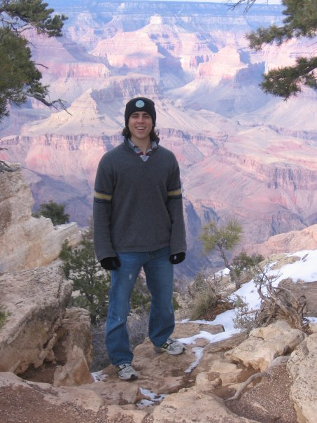 Justin at The Grand Canyon Jan-2007