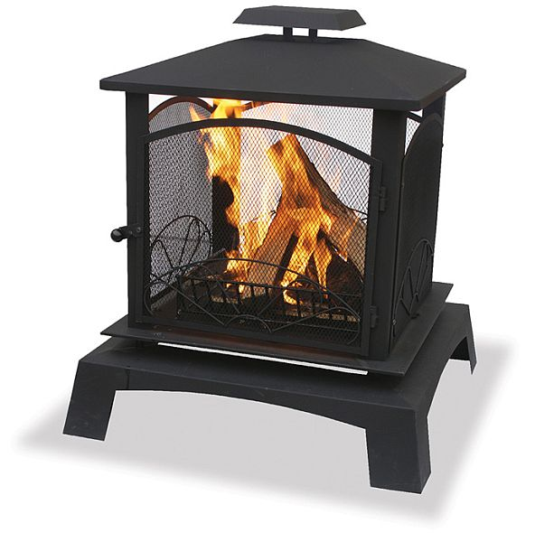 Wyldestone Cottage: Inspiration Monday - Fire on Quillen Steel Outdoor Fireplace id=74776
